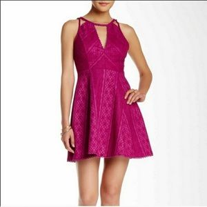 Free People Miss Connections Lace Skater Dress